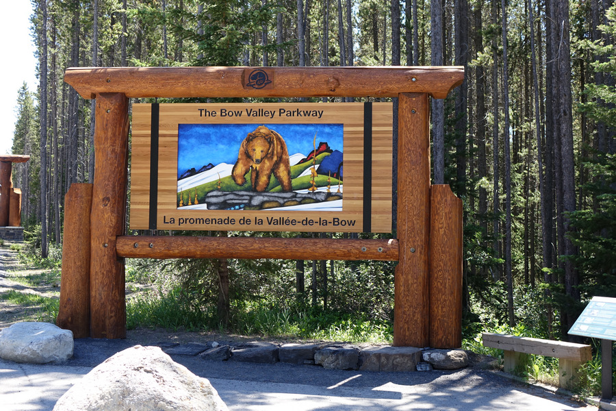 Entry to Bow Valley Parkway