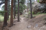Trail up to Horsetooth Rock