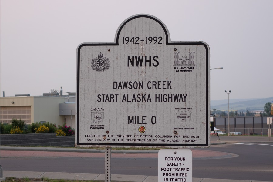 Picture of Alaska Highway Mile 0 Sign