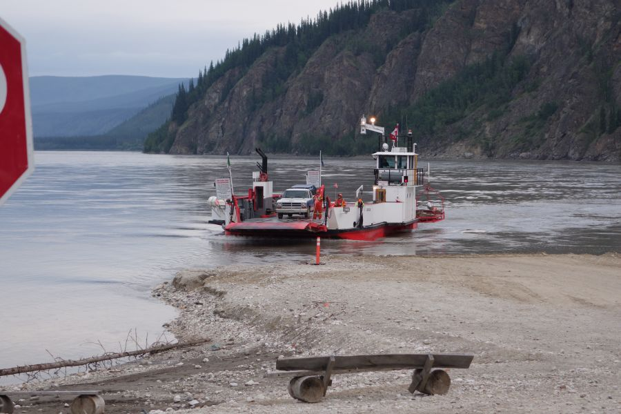 Ferry crossing Yukon River